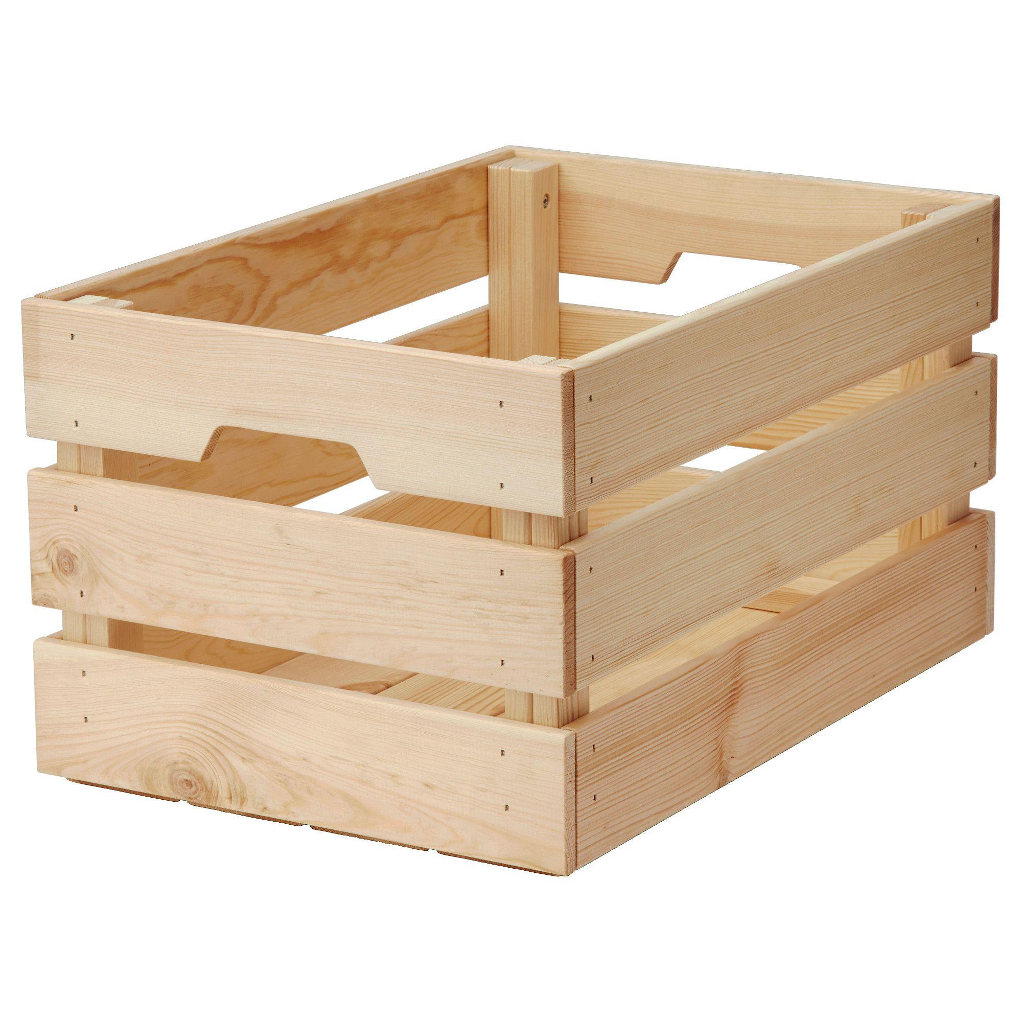 Knagglig Box Pine 18x12 X9 Avec Images Stockage Ikea