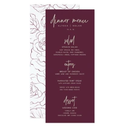 Wedding dinner menu card wedding dinner menu card wedding invitations cards custom invitation card design marriage party stopboris Image collections
