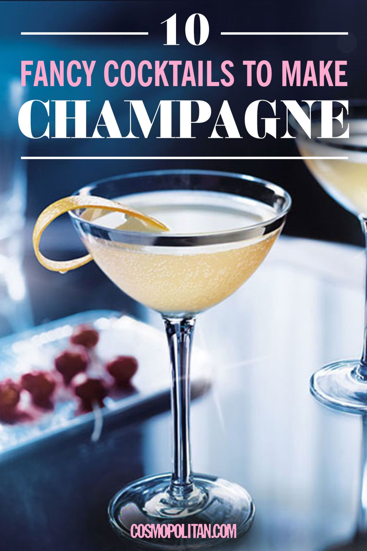 10 fancy cocktails to make with champagne champagne cocktail for Vodka cocktails recipes easy