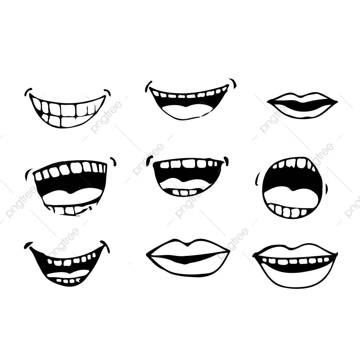 Download This Cartoon Mouth Icon Cartoon Set Mouth Transparent Png Or Vector File For Free Pngtree Has Mil Cartoon Mouths Icon Illustration Icon Set Design