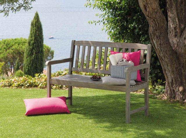 Banc jardin bois maisons du monde | Jardin | Outdoor, beautiful ...