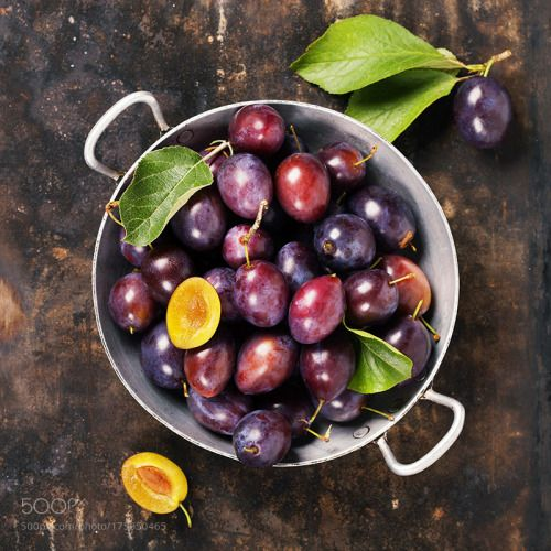 Plums in a bowl on a rural background by klenova  IFTTT 500px