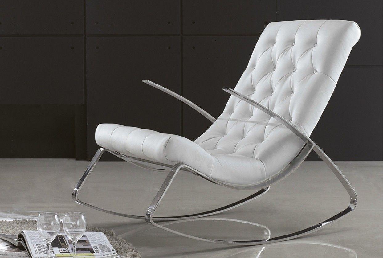 Mecedora Moderna Acero En Mbar Muebles Com Muebles Tapizados En  # Muebles Mecedoras