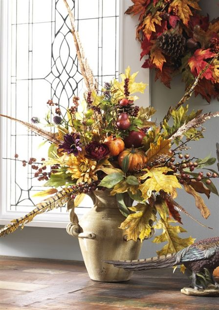 Arrangement Cornucopia Fall Floral And Decorating Ideas