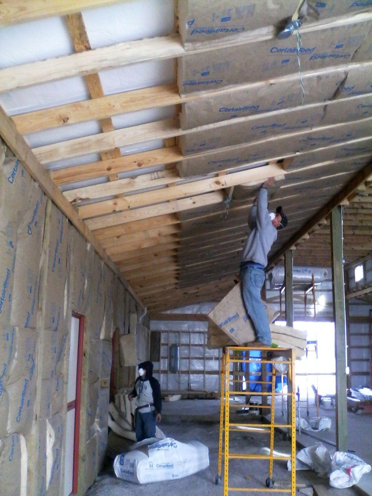 Tongue & groove ceiling in barn. Dream barn, Horse barn