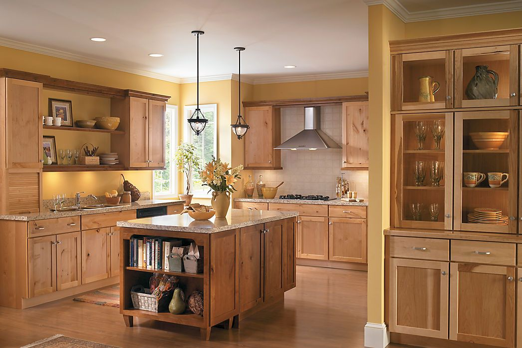 Lancaster knotty alder natural hickory wheat island is for F kitchen lancaster