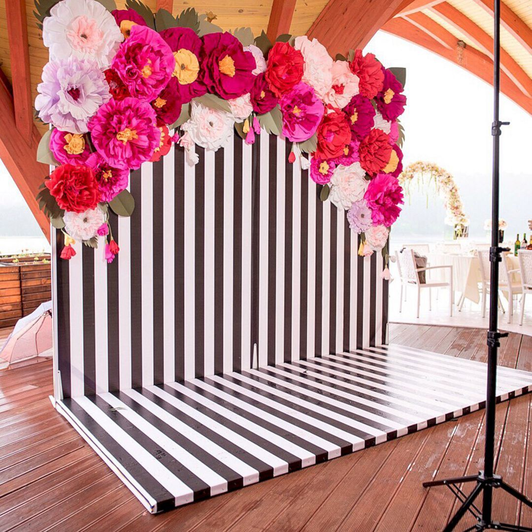 Beautiful Paper Flower Backdrop Wedding Ideas  Pictures  susi