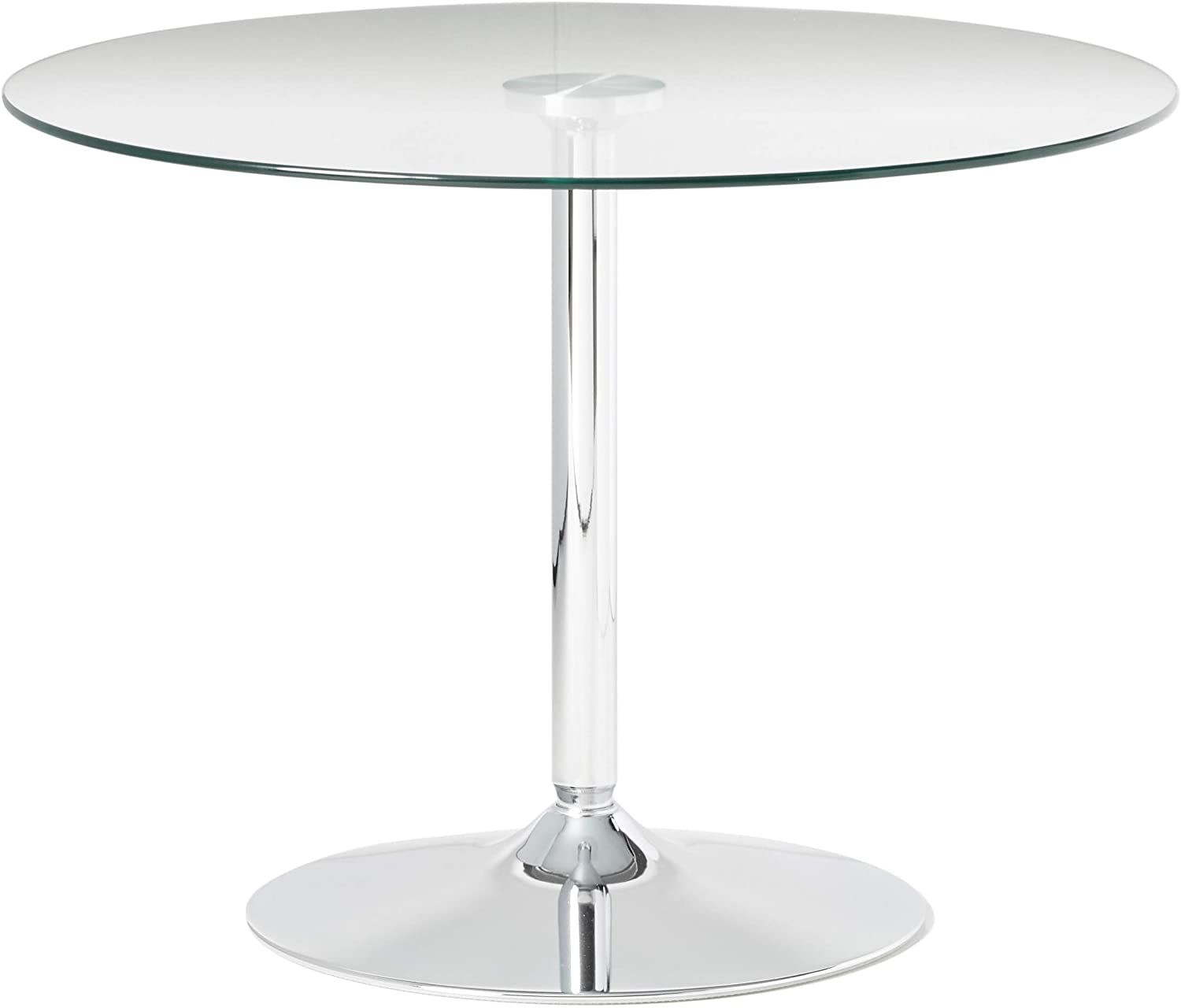 Flash Furniture 39 25 Round Glass Table With 29 H Chrome Base Round Glass Table Glass Table Flash Furniture [ 1280 x 1500 Pixel ]
