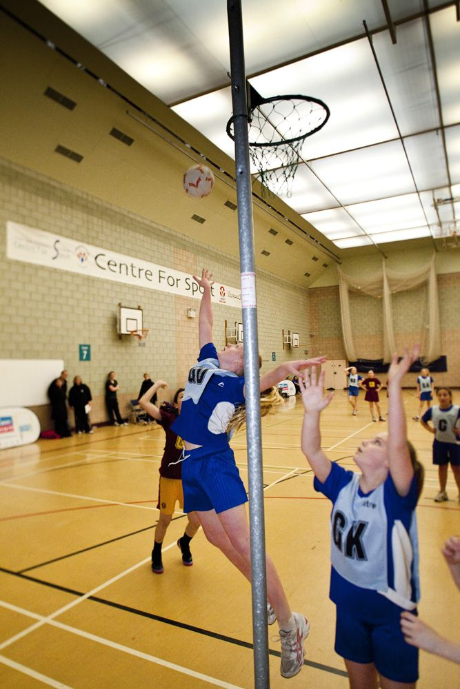 Netball at the School Games March 2013 Finals.