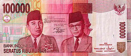 Indonesian 100000 Rupiah UNC 2014 10 pieces Ind...