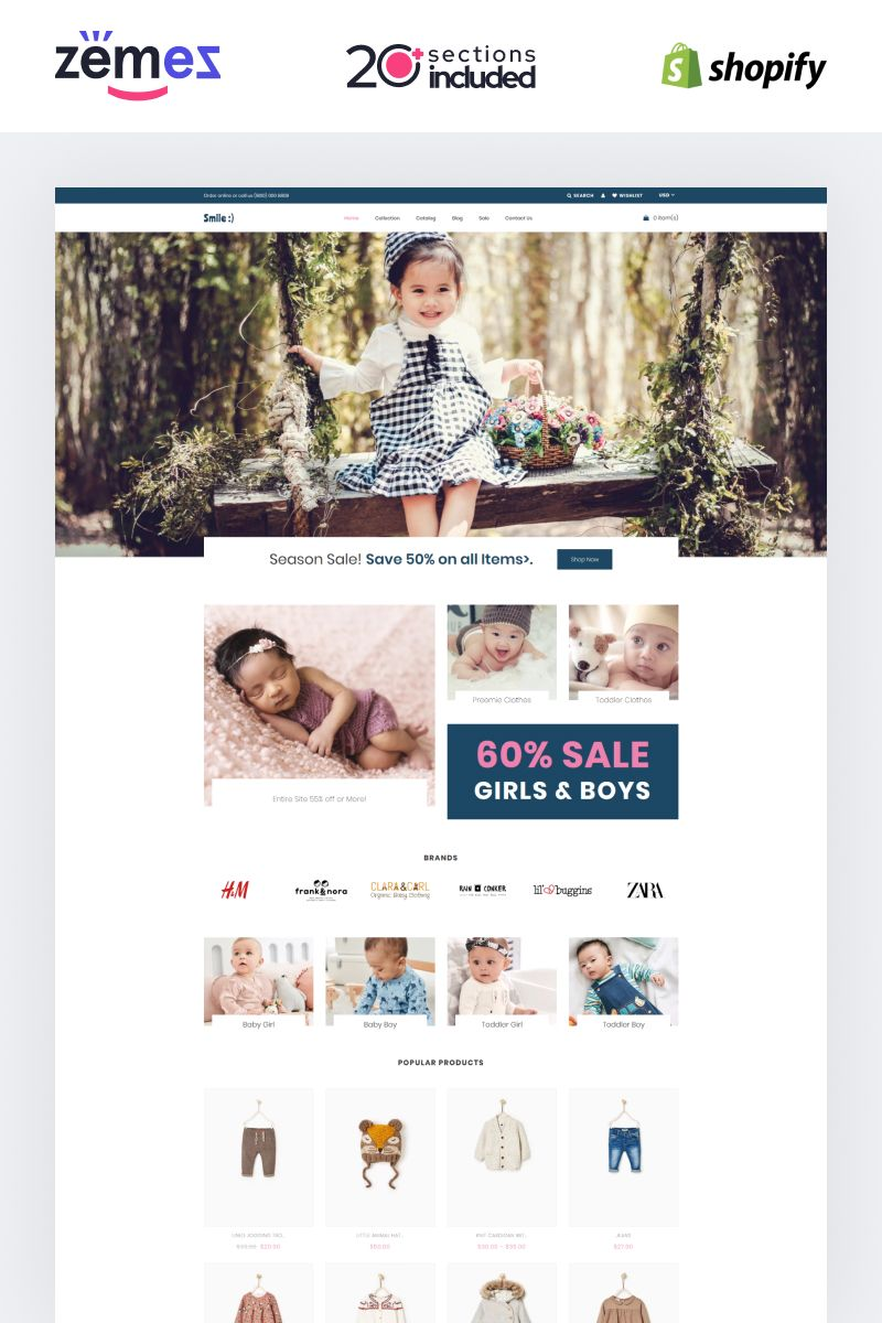 Smile Simple Baby Clothing Store Shopify Theme 87739 Clothing