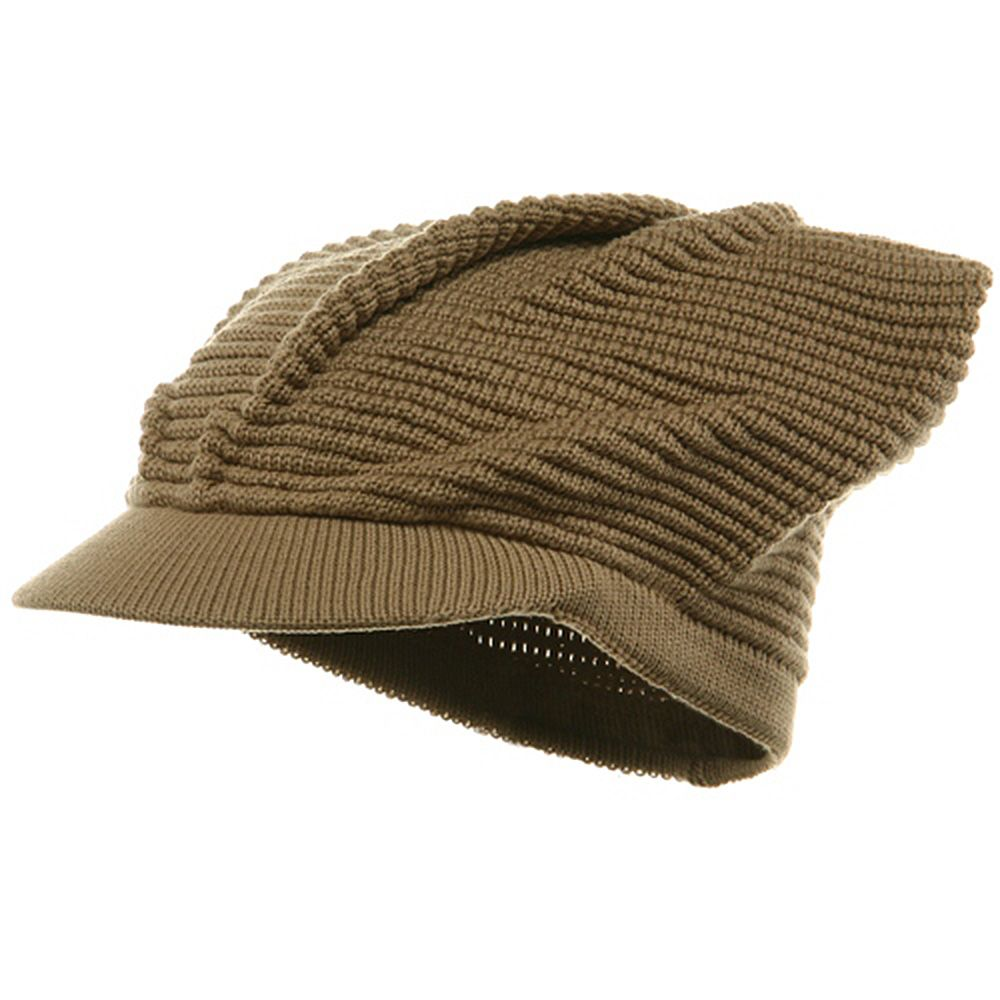 bdcdb782a5f02f New Rasta Plain Brim Cap-Khaki | hats | Hats, Cap, Winter hats