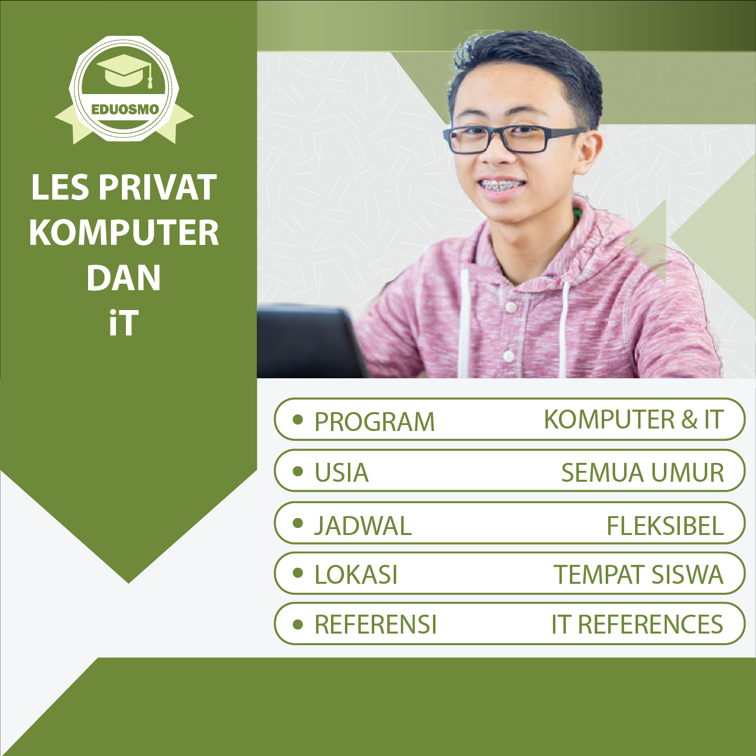 Program Les Privat Komputer It Di Bandung Dengan Guru Datang Ke Rumah Daftar Online Di Eduosmo Com Daftar Atau Wa Kami Di 0878 2444 Pendidikan Guru Komputer