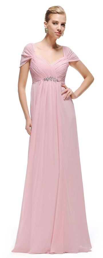Pink Maternity Bridesmaid Dresses Ced Sleeves Pregnant Dress Empire Waist
