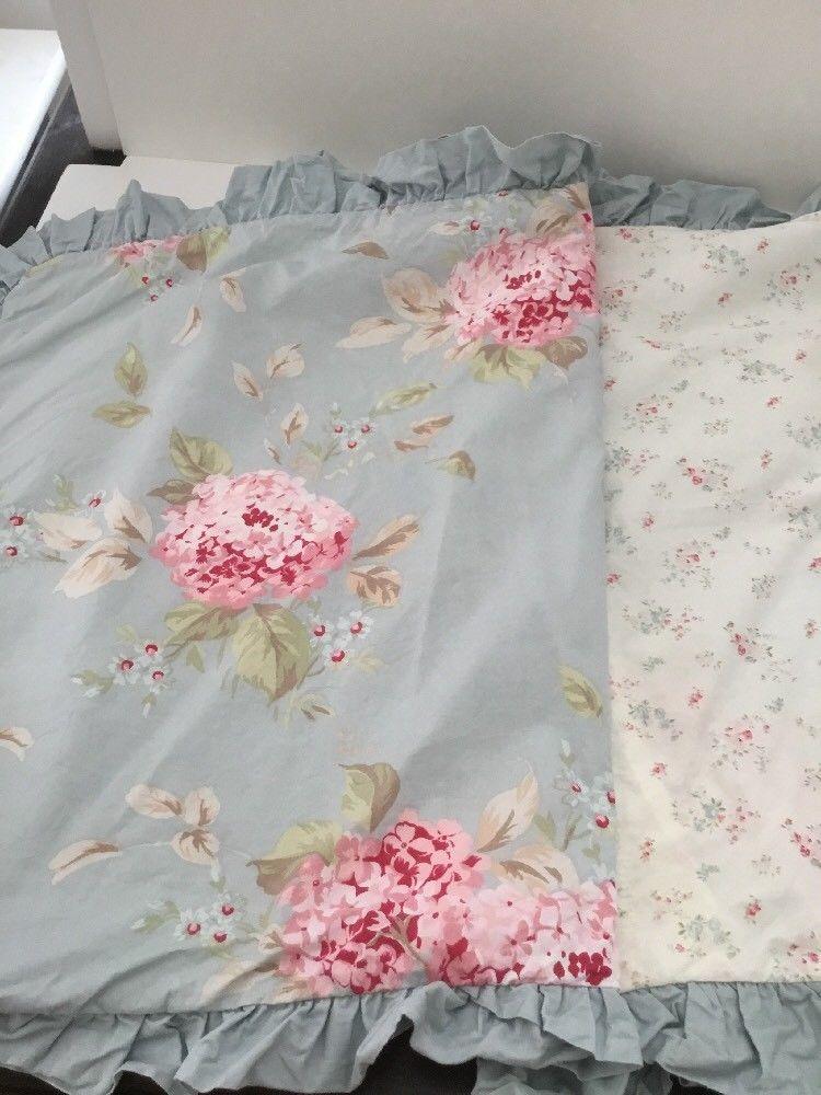 Simply Shabby Chic Retired Hydrangea Queen Full Duvet Cover 2 Pillow Shams Full Duvet Cover Shabby Chic Duvet Simply Shabby Chic