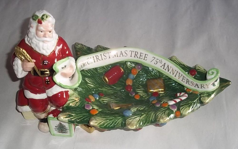 Spode Christmas Tree Santa Dish  75th Anniversary New In Box  #Spode