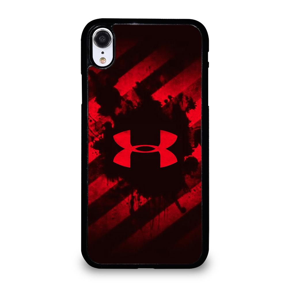 UNDER ARMOUR RED STRIPE LOGO iPhone XR Case Cover Black