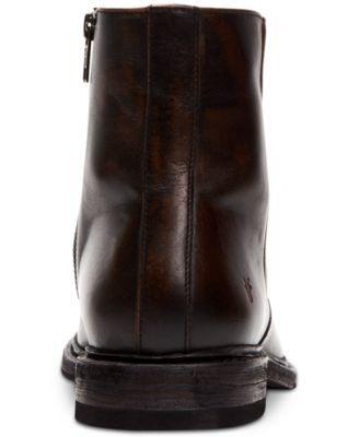 frye paul inside zip leather boot mens