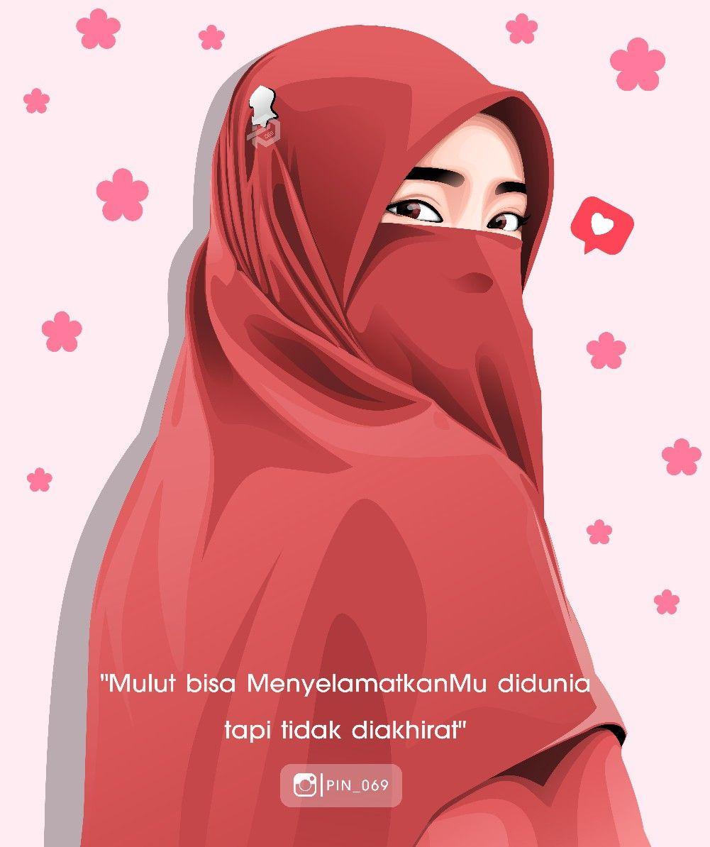 Vector Art Hijab Jilbab Muslimah Islamic Girl Anime Muslim Hijab Cartoon