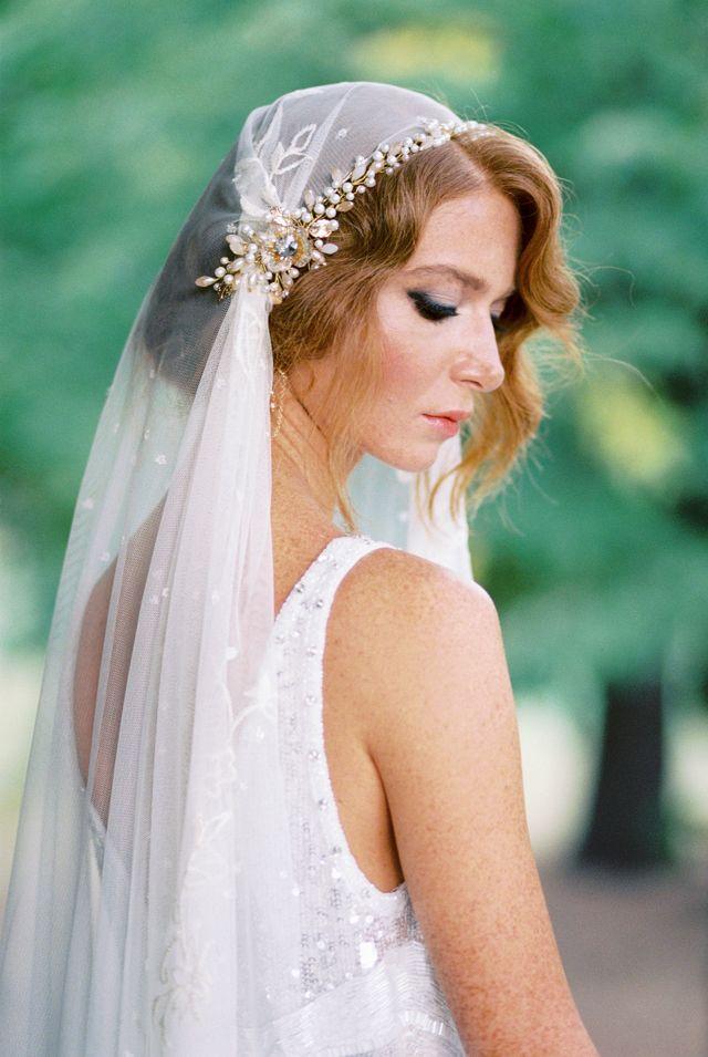 Vintage 1920s Flapper Wedding Flapper Wedding Wedding Veil