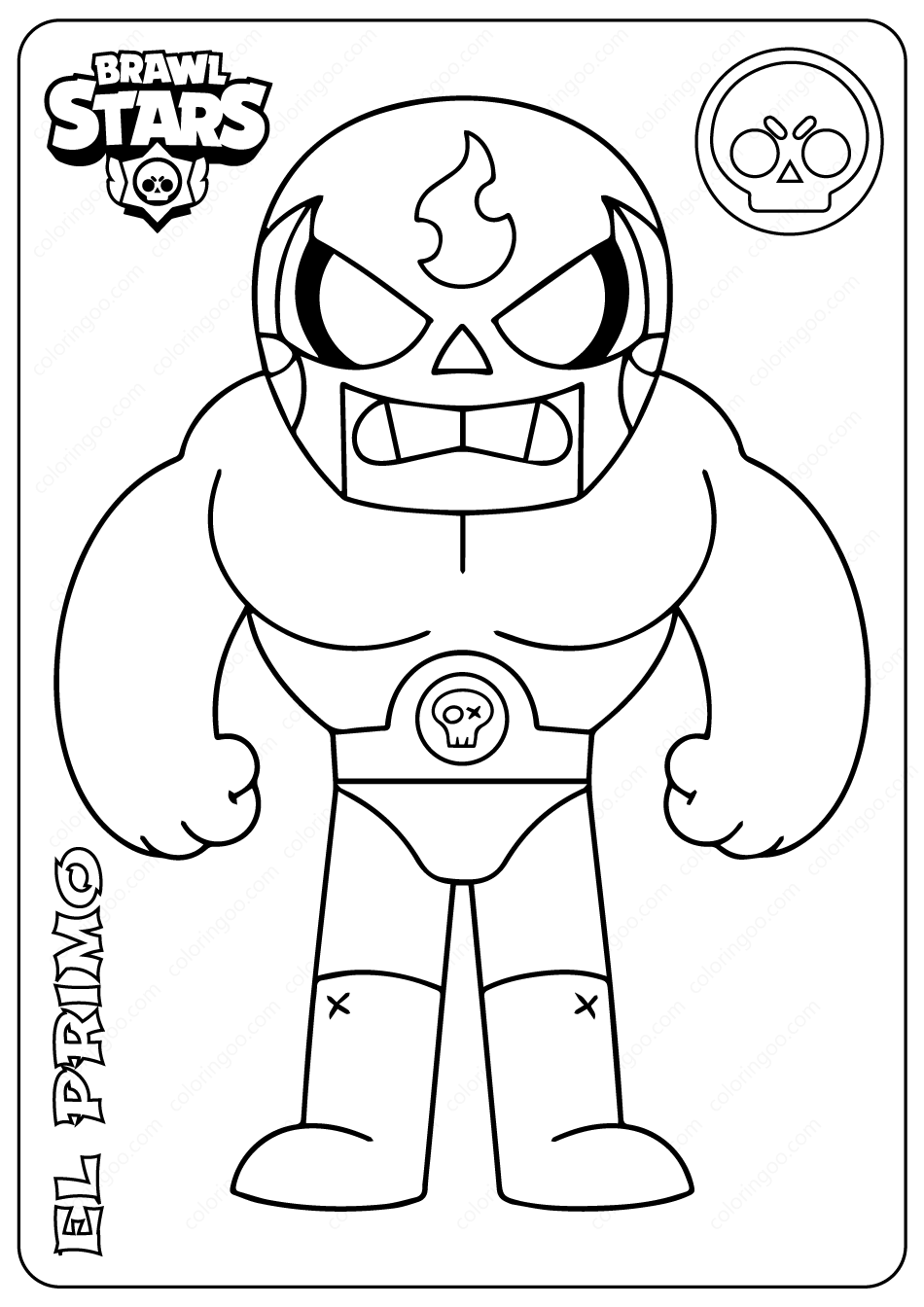 Brawl Stars El Primo Pdf Coloring Pages Star Coloring Pages Coloring Pages Printable Coloring Pages