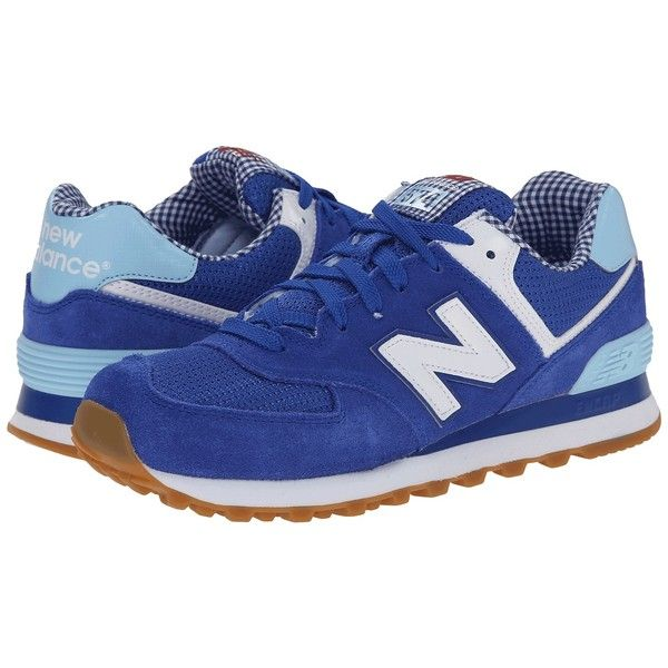 New Balance Classics WL574 - Picnic Collection Women's Classic Shoes ($80)  ❤ liked on Polyvore featuring shoes, athletic shoes, sneakers & athletic  shoes, ...