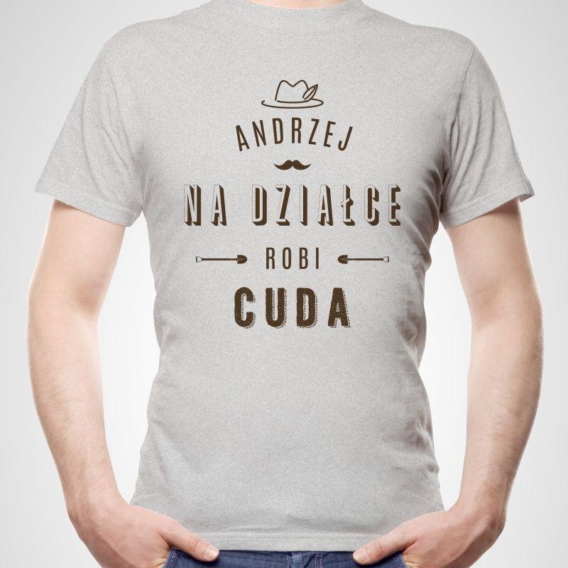 3171c08d0f08 Koszulka personalizowana męska DZIAŁKOWICZ