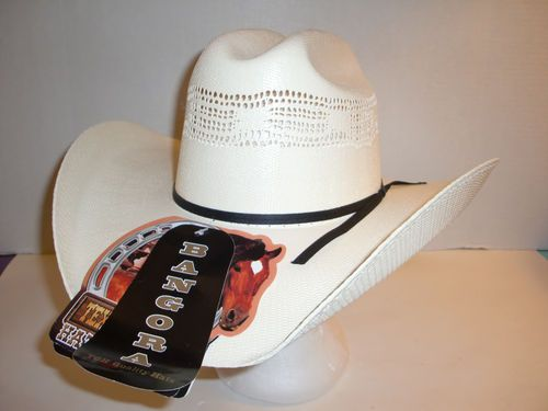 New Texas Gold Alamo 100x Bangora Straw Shapeable Cowboy Western Hat 7 1 8   4b933e66574