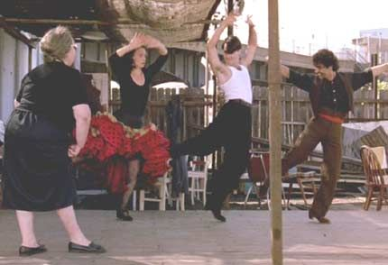 "My favourite scene in the film Strictly Ballroom, when his grandmother says ""hot stuff may be able to shake his tail feather, but he knows chicken s*** about rhythm"", and teaches him to dance from the heart"