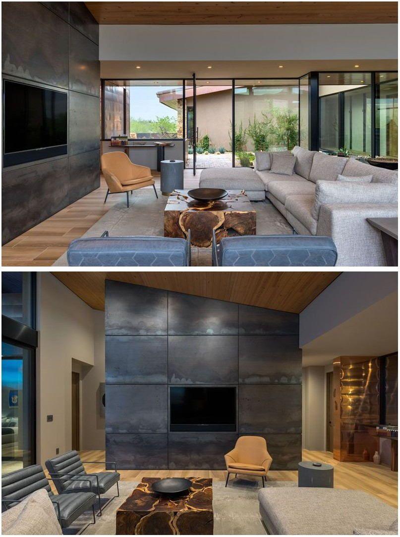 Arizona Living Room Painting Ideas | Small modern home ...
