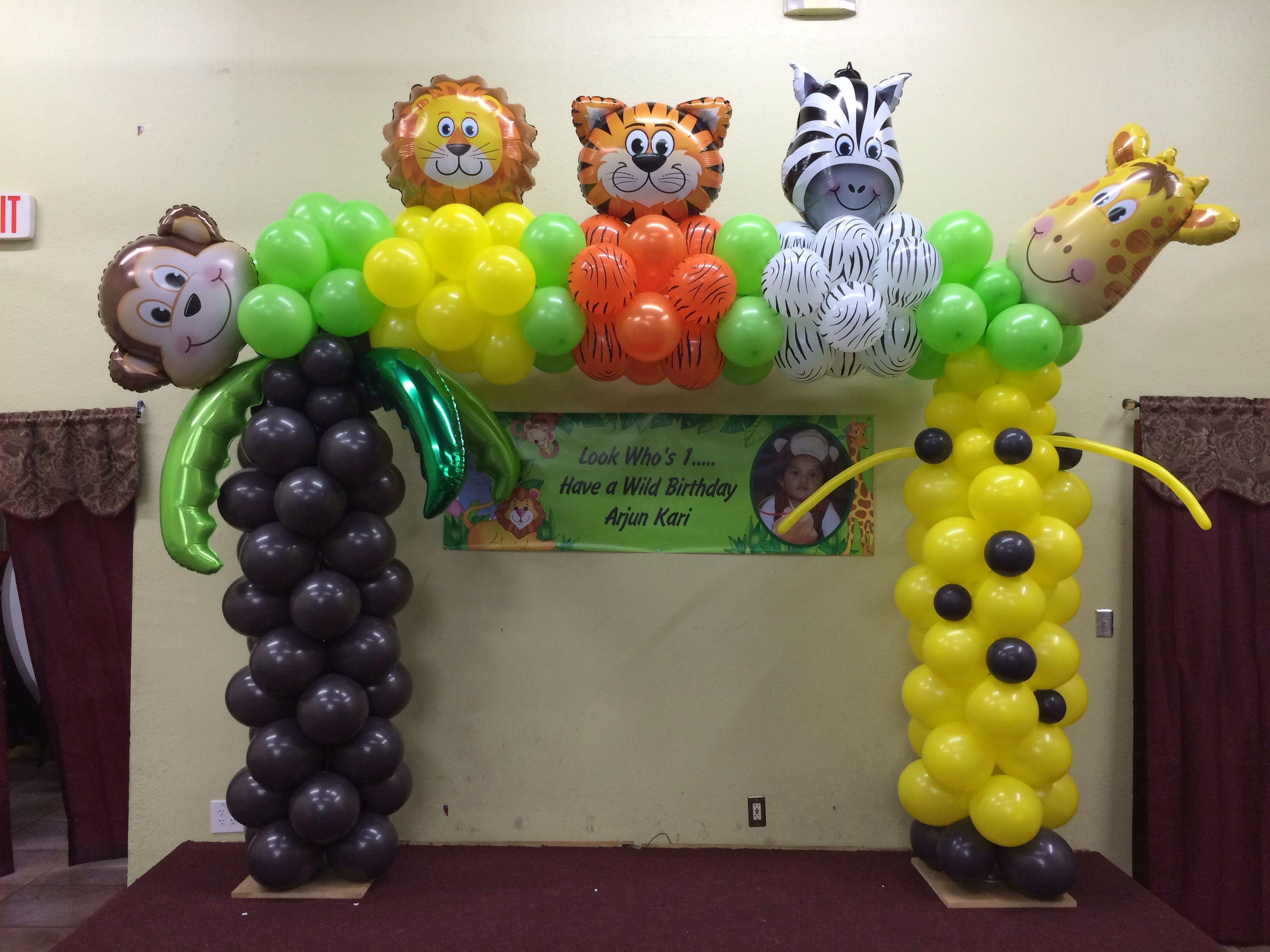 Jungle Theme Baby Shower Balloon Decor