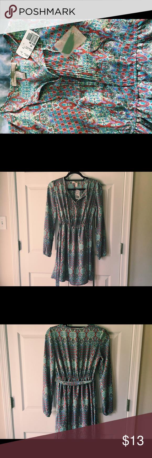 Forever 21 NWT dress NWT Long sleeved sheer forever 21 dress, ties in the front Forever 21 Dresses Long Sleeve