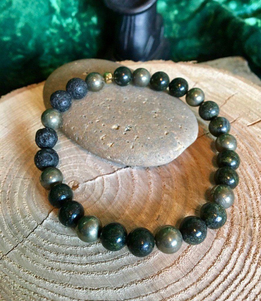 Mens//Ladies Jade  Friendship Surfer Style Lava  Gemstone Bracelet Men/'s Beaded