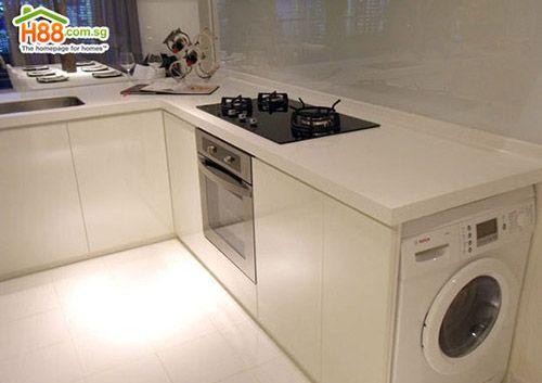 M quina de lavar roupas na cozinha ou no banheiro cozinhas e despensas cozinha cozinha - Lavadora secadora pequena ...