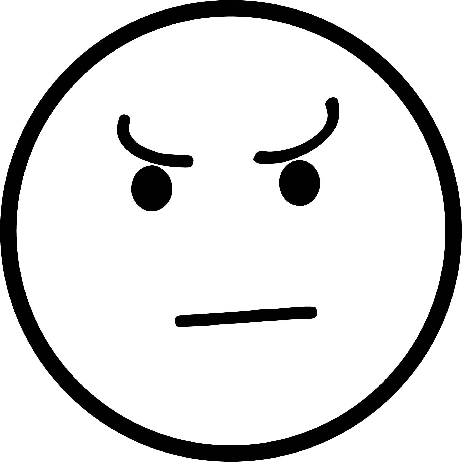 Awesome What Angry Face Circle Coloring Page Angry Face