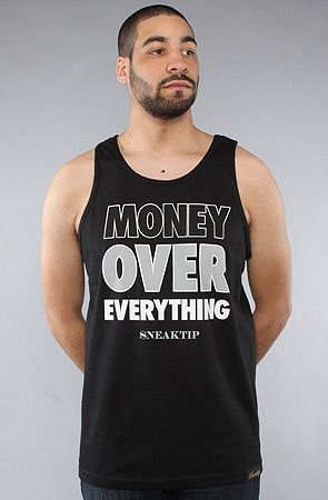 #Karmaloop The #Money Over #Everything #Tank #Top in #Black by #Sneaktip  Use rep code:XLOOP for 20% off  Retail:$28.00