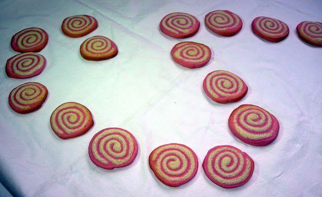 Galletas de remolacha en espiral