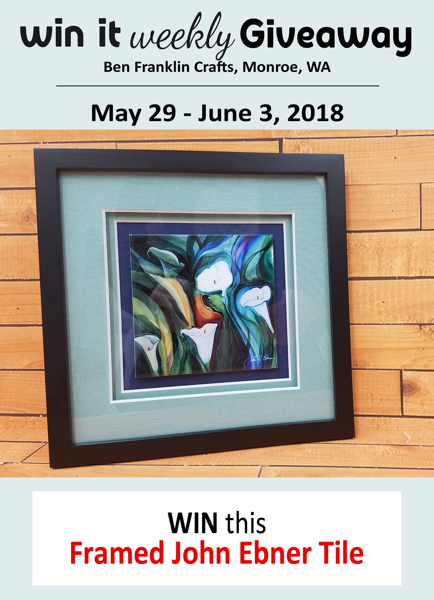 Win It Weekly Giveaway (May 29 - June 3, 2018) | Giveaway, Frame ...