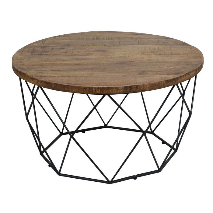 Ahart Frame Coffee Table Round Wooden Coffee Table Coffee Table