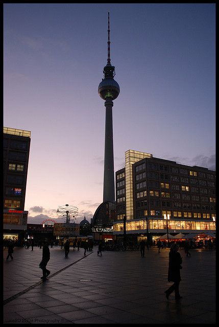 Television Tower In Alexanderplatz At Sunset Berlin Photography Berlin Germany Germany