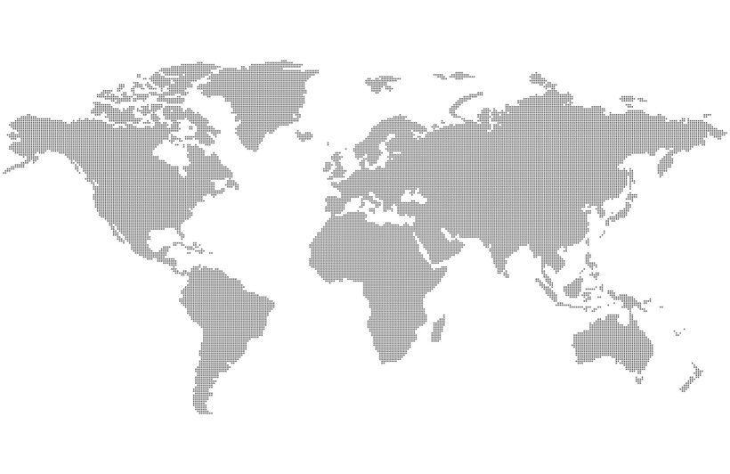 Grey Dotted World Map Wallpaper Mural World Map Wallpaper Map Wall Mural Map Wallpaper
