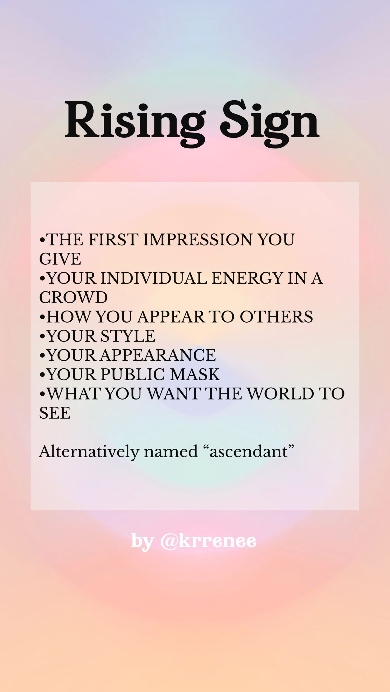 ascendant in astrology meaning