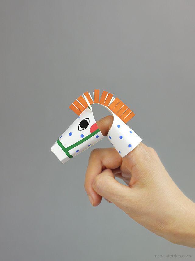 DIY: Printable finger puppet - Pipi's Horse / Mr Printables