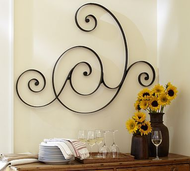 Metal Gate Wall Decor scrolling gate wall art sale $99 | style | euro-traditional
