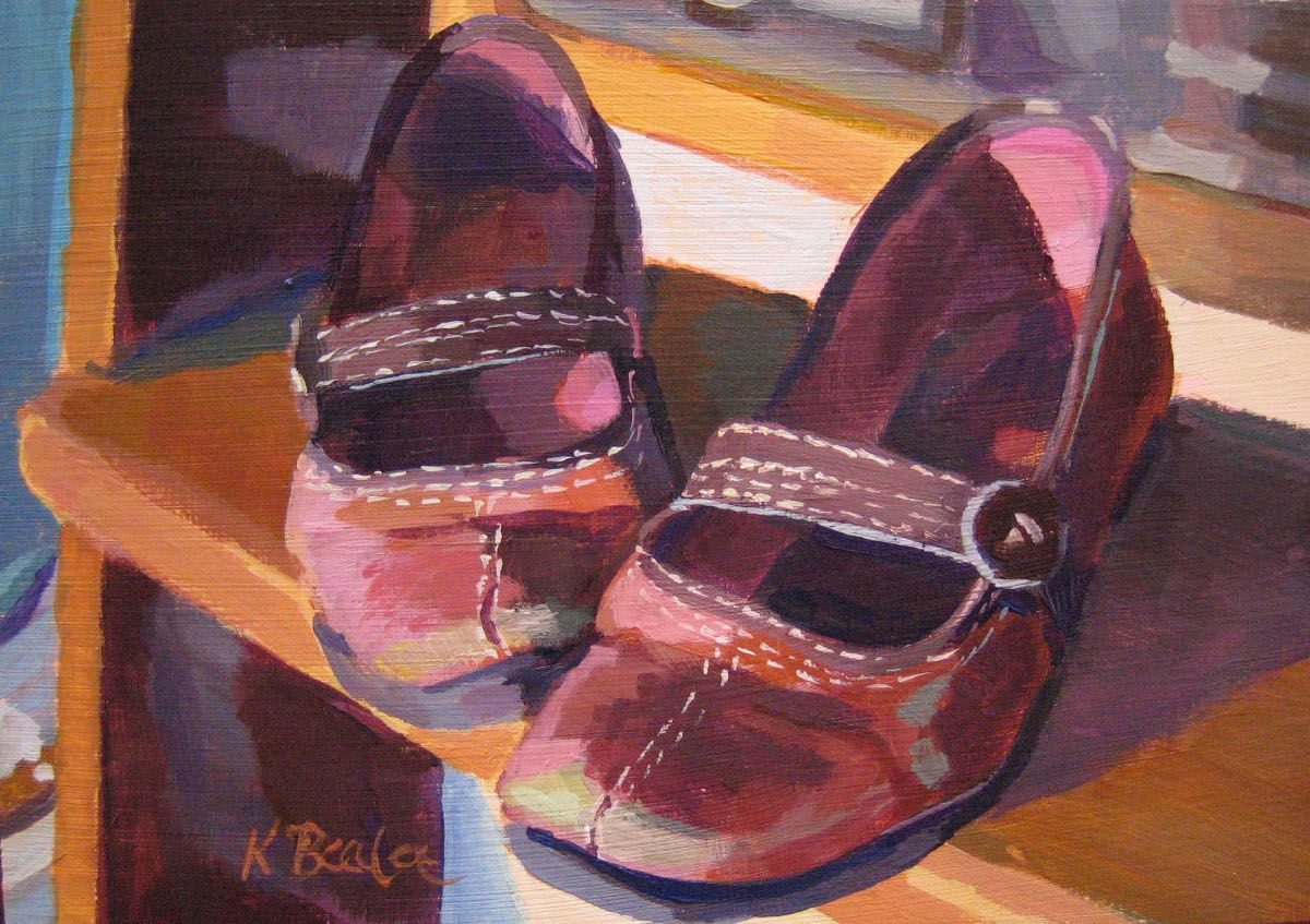 """Mary Janes"" original fine art by Kaethe Bealer Original"