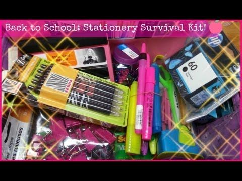 ♥ Back to School: Stationery Survival Kit ♥  All the stationery items you need for school!