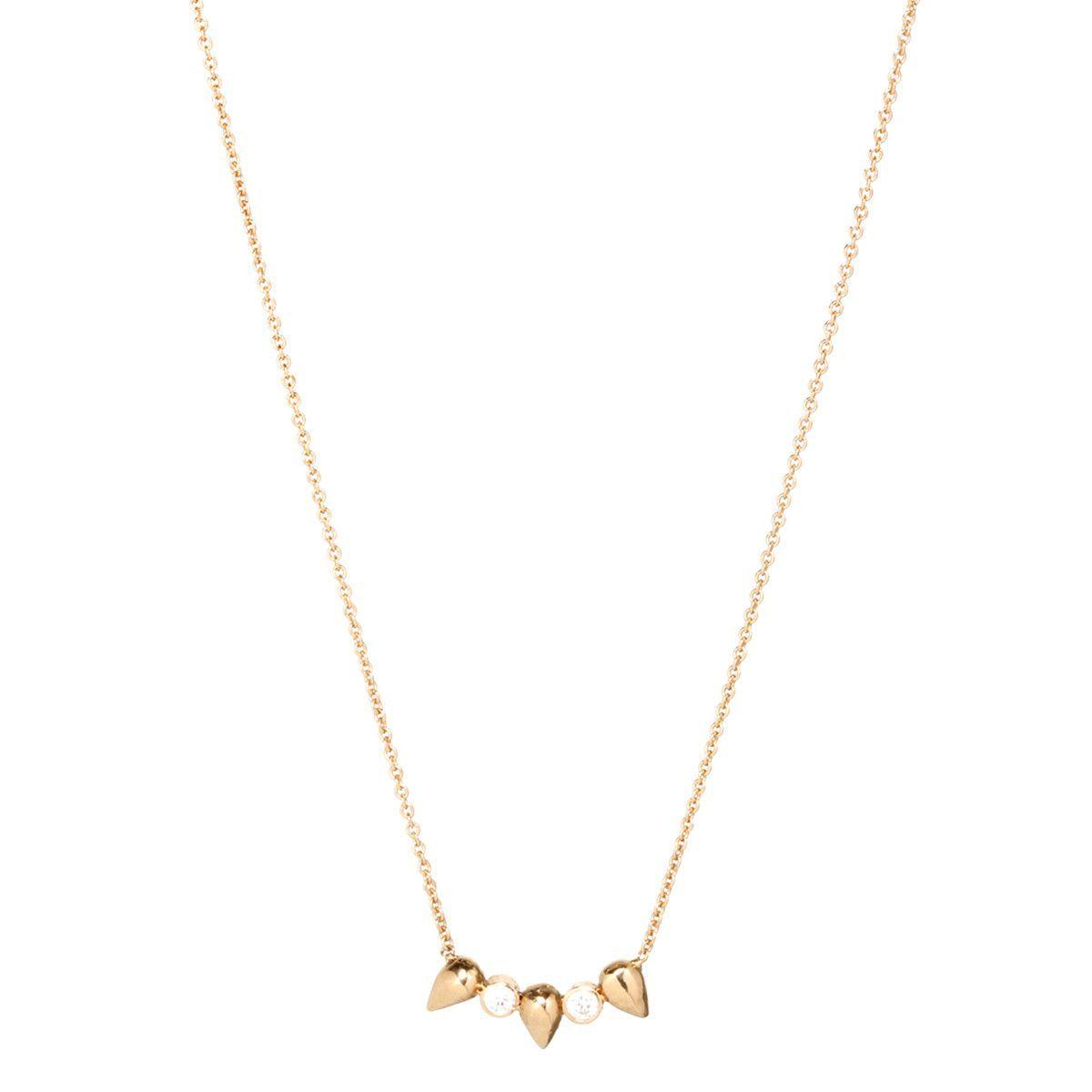 14k diamond 3 bullets necklace