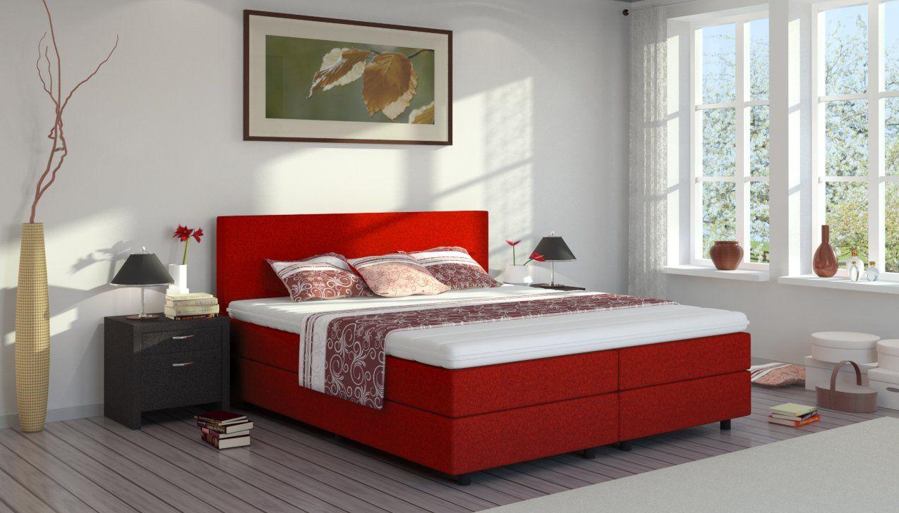 boxspringbett edmund farbe burgundrot in 12 verschiedenen attraktiven farben erh ltlich. Black Bedroom Furniture Sets. Home Design Ideas