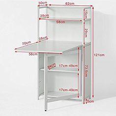 Sobuy Fwt12 W Table Pliante Armoire Avec Table Pliable Integree Table D Ordinateur Table De Cuisine Tabl Rangement Couture Mobilier De Salon Table Pliable