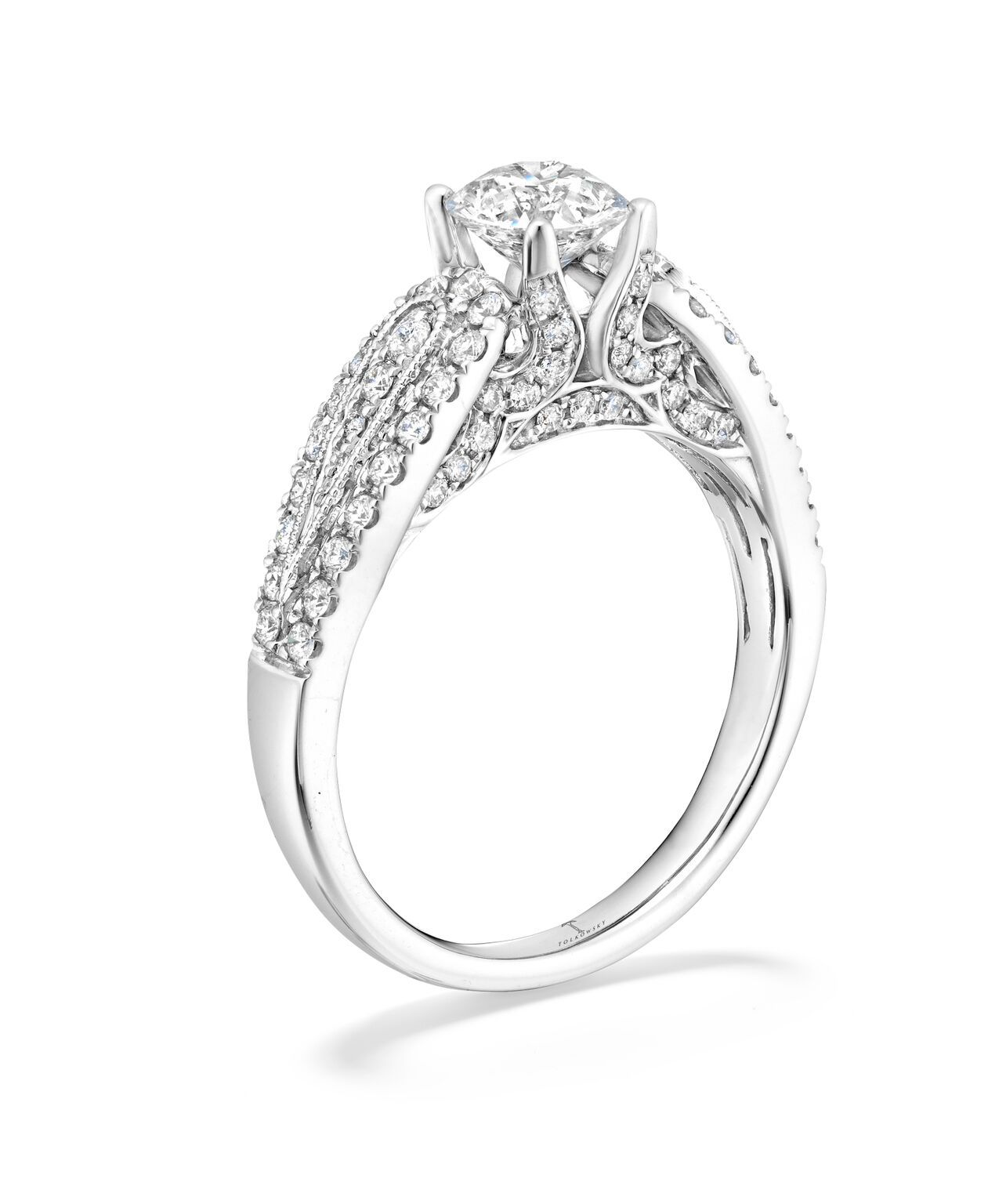 Tolkowsky Diamond Engagement Ring in 14K White Gold Available in